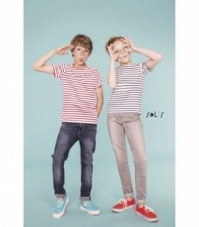 MILES KIDS Sol's  - 1400 - TEE-SHIRT ENFANT COL ROND RAYÉ