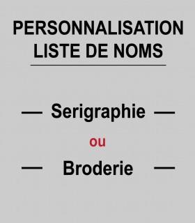Impression liste de noms (min 10 pièces)