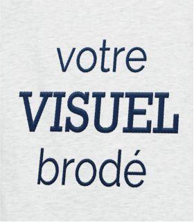 Broderie motif ou texte identique