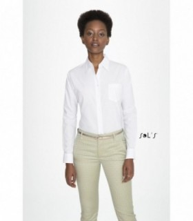 EXECUTIVE Sol's  - 16060 - CHEMISE FEMME POPELINE MANCHES LONGUES